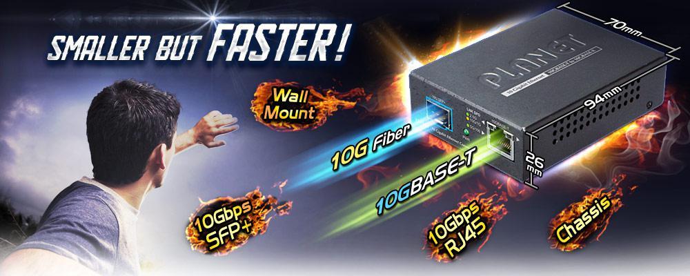 XT-705A 10G/5G/2 5G/1G/100M Copper to 10GBASE-X SFP+ Media Converter