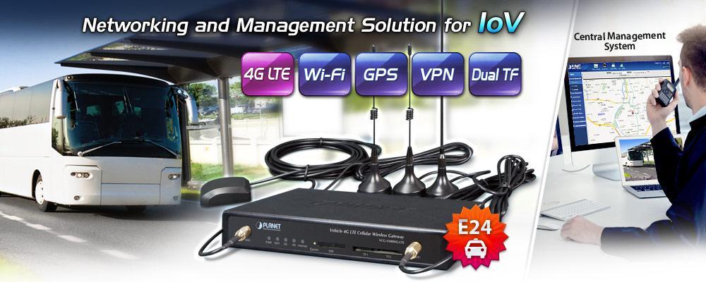 Vehicle 4G LTE Cellular Wireless Gateway with 5-Port 10