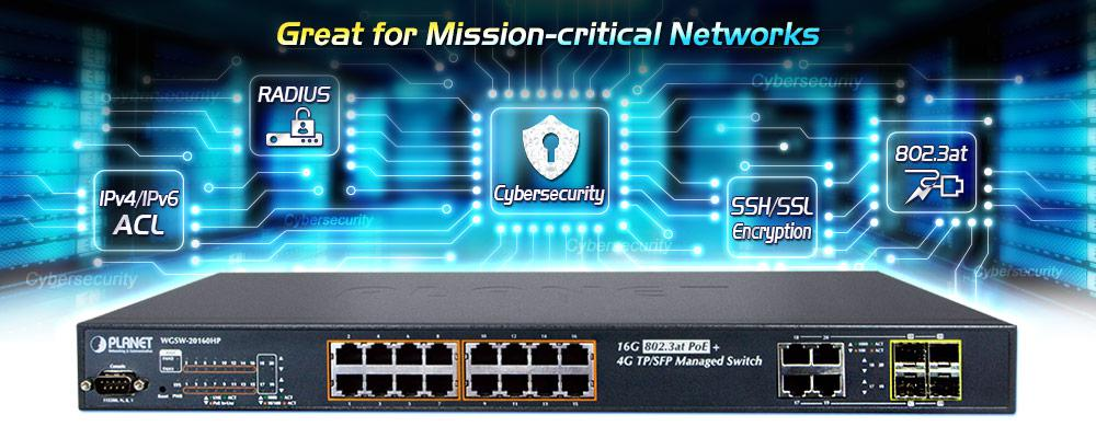 WGSW-20160HP - L2+ Gigabit Ethernet Switch - PLANET Technology