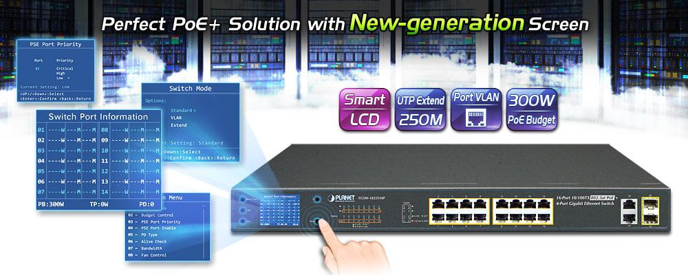 FGSW-1822VHP - Fast Ethernet PoE Switch - PLANET Technology