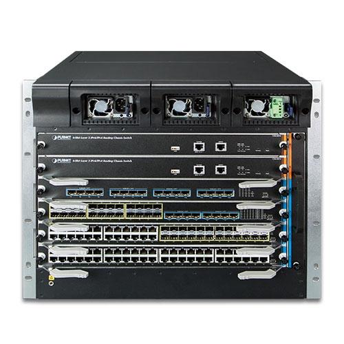 6 Slot Layer 3 IPv6/IPv4 Yönlendirme Kasa Ağ Anahtarı